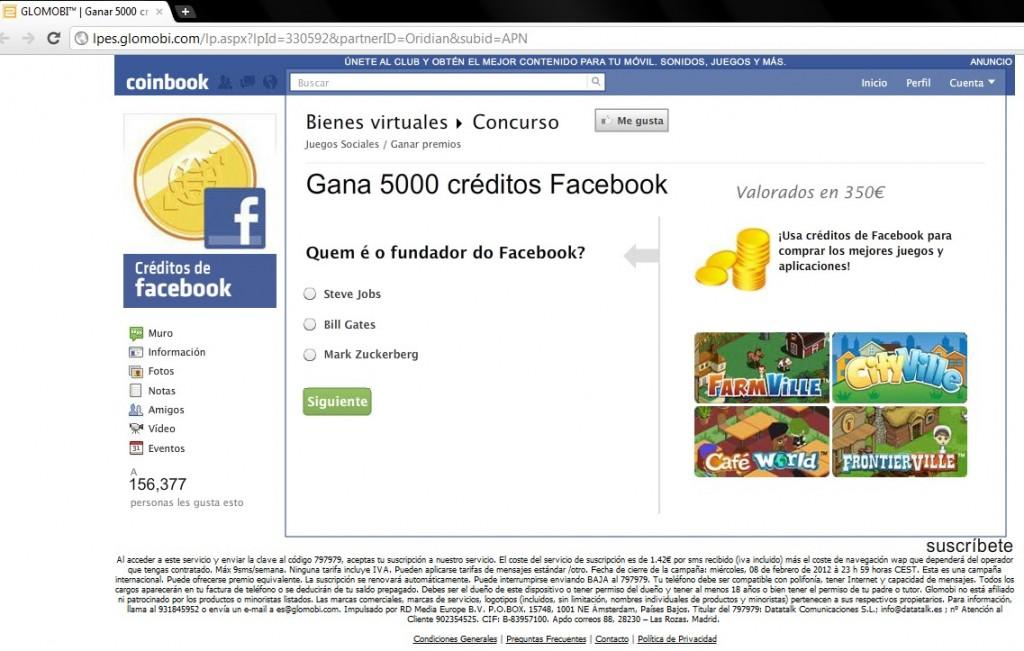 Engaño facebook